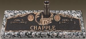 Bronze Marker Companion Chapel Portrait Picture