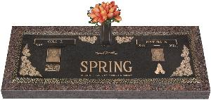 Bronze Marker Companion Garden of Life Floral Bouquet Flowers 60x20
