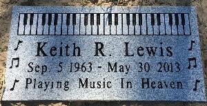Granite Gravestone Piano Keyboard