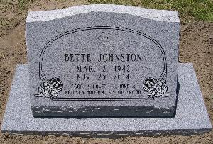 BETTE JOHNSTON