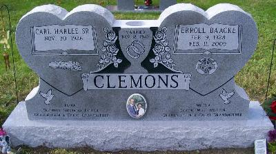 gray granite double heart shape companion headstone with built in flower