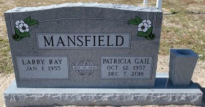 companion upright headstone with white dogwood flower design