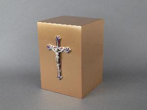 Halo Bronze Cube 35-798 Jeweled Cross
