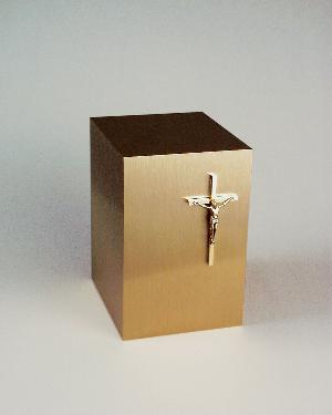 Halo Bronze Cube 35-885 Crucifix_