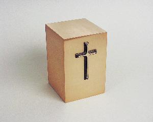 Halo Bronze Cube 35-892 Cross Silhouette